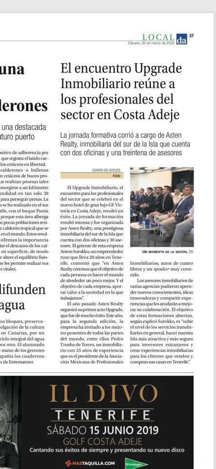 Upgrade Inmobiliario is in the local press