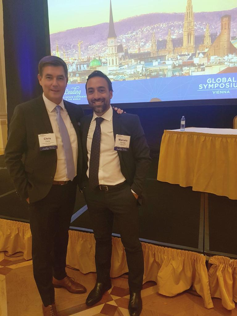 Marcelo Gomez at Leading Real Estate Symposium in Vienna